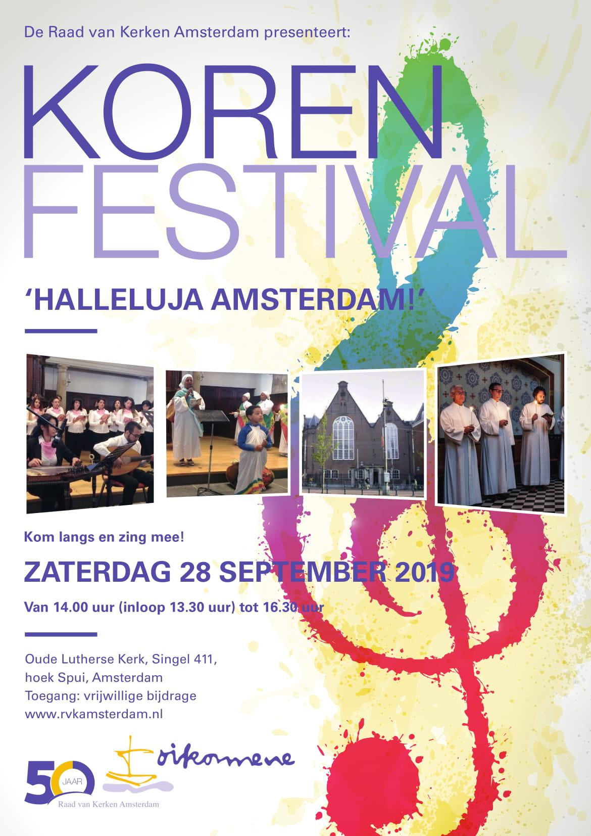 Raad van Kerken Amsterdam viert culturele diversiteit met korenfestival
